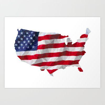 American Flag Art Print by HOPE 4 MORE - $22.88