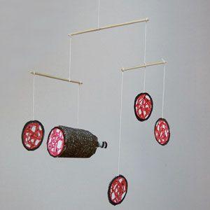 basteln mobiles and veganer on pinterest. Black Bedroom Furniture Sets. Home Design Ideas