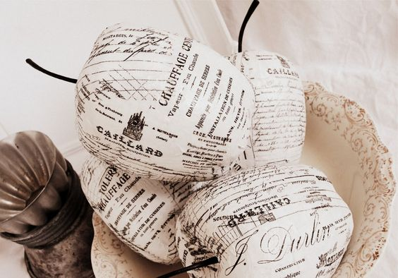 {oc cottage}: Apples Of Paper In Settings Of Old...