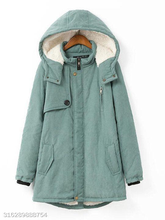Jotebriyo Mens Mid Length Faux Fur Hooded Winter Fleece Warm Quilted Jacket Coat Outerwear