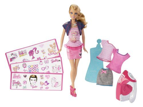 Barbie Iron-On Style Doll $14.99 #bestseller