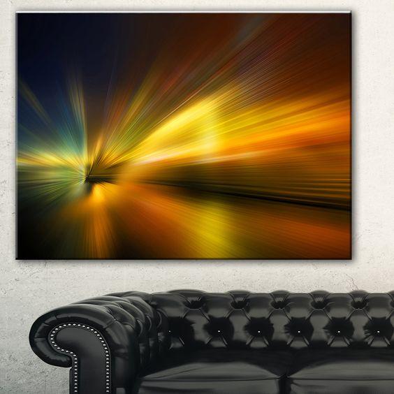 Designart 'Blue Over Texture' Abstract Digital Art Canvas Print