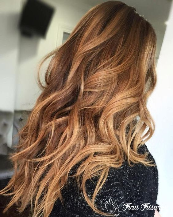 Neu Frisuren Fur Herbst 2019 Langes Haar Haarfarben Caramel Blond Haarfarben Karamellbraune Haarfarbe