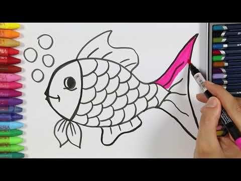 كيف ترسم سمكه رسم و تلوين للأطفال بطريقه سهله Youtube In 2021 Animal Coloring Pages Coloring Pages Art