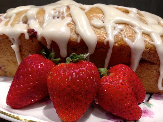Glazed Strawberry Bread...