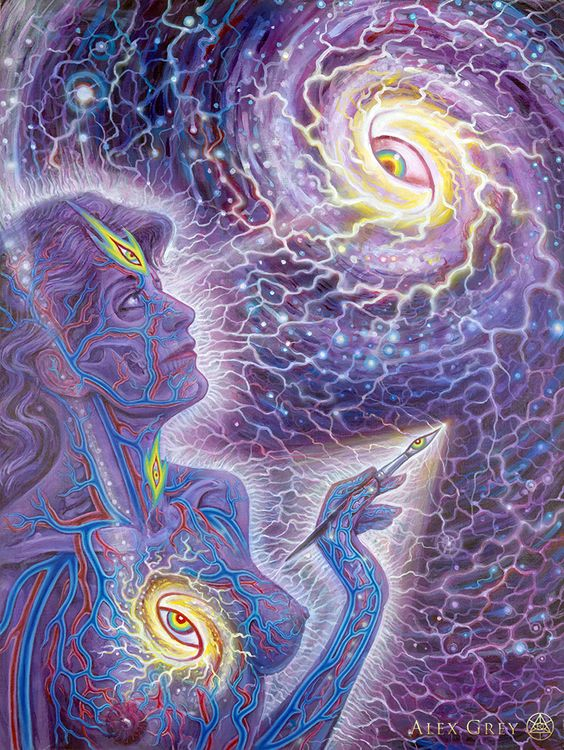 "Thou art not that body: thou art this spiritual Eye. *Beloved Master Rumi""Q.S.A"" Art Work: Cosmic Creativity by Alex Grey ღஜღ Love ღஜღ MODaline Productions"