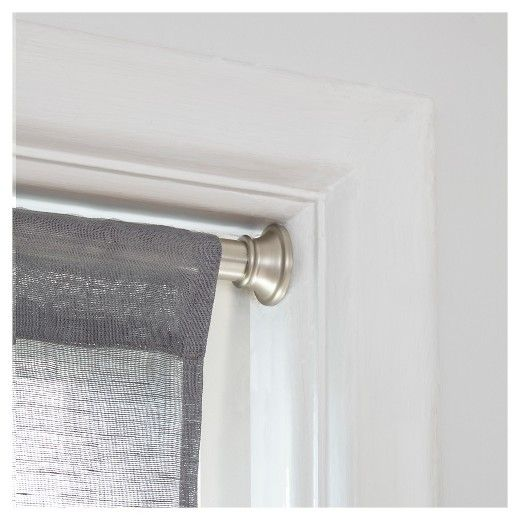 Loft By Umbra 36 54 Tensa Tensions Rod Set Brushed Nickel Tension Rod Curtains Tension Rod Rod Set