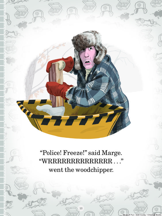 """Josh Cooley, a storyboard artist for Pixar Animation, has created the year's most viral children's book (thus far): """"Movies R Fun,"""" which takes classic scenes from adult-oriented movies such as """"Pulp Fiction,"""" """"Fargo,"""" """"Donnie Darko"""" and """"Psycho"""" and turns each moment into a cartoon."""