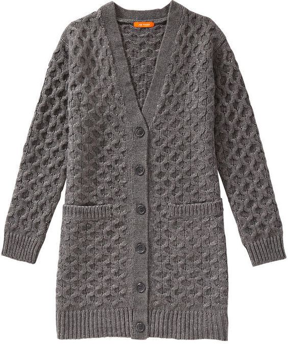 Chunky Knit Cardigan - Dark Grey Mix | Chunky Knit Cardigan, Joe ...
