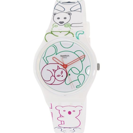 Cute! Swatch Women's Originals GW168 Multi Silicone Swiss Quartz Watch