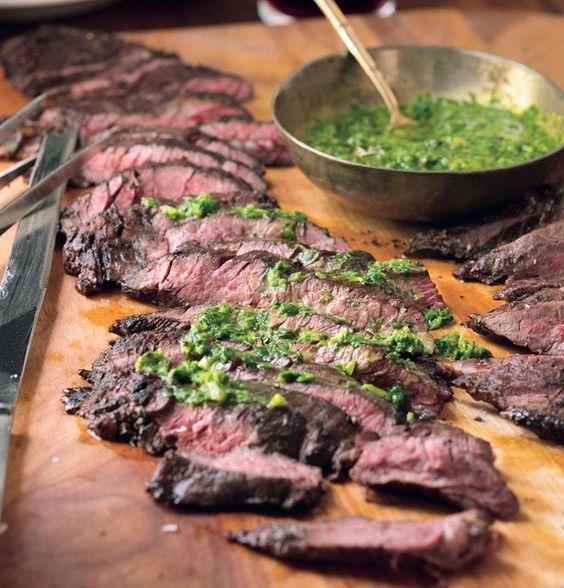 Grilled Skirt Steak with Roasted Jalapeno Chimichurri from In My ...