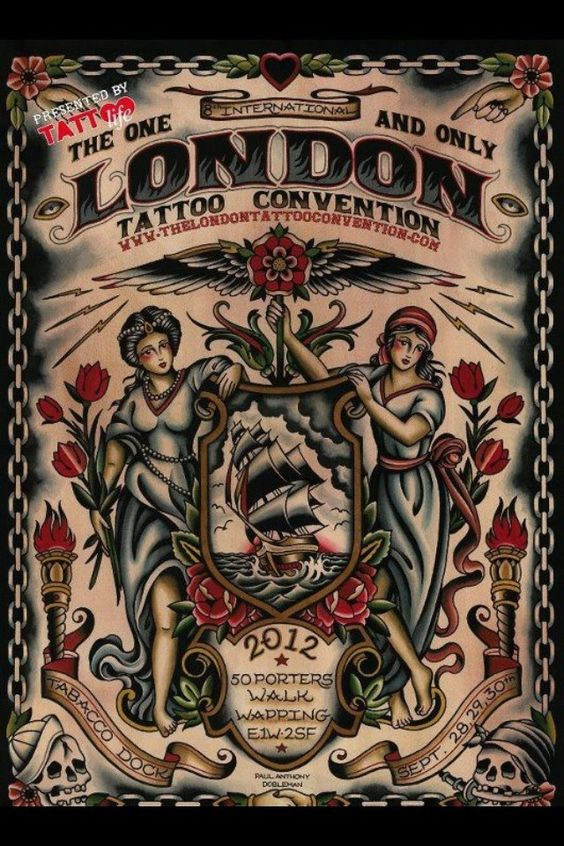 London Tattoo Convention 2012 poster...!