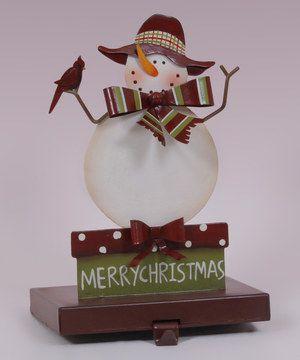 Love this Scarf Snowman Stocking Holder by Enesco on #zulily! #zulilyfinds