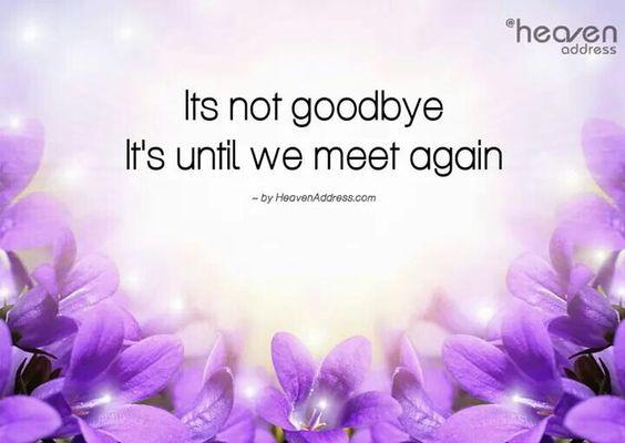 its not goodbye until we meet again
