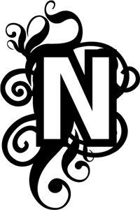 Silhouette Online Store - View Design #3085: Monogram N