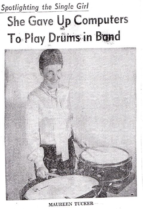 appendixjournal:  From a mid-60s article about Maureen Tucker, the unorthodox drummer for the Velvet Underground, and singer of one of their...