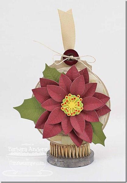 Poinsettia Die-namics, Decorative Circle Tag STAX Die-namics - Barbara Anders