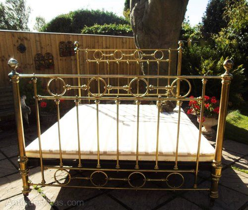 Victorian Brass Antique Bed Rare Olympic Queen Size Antique