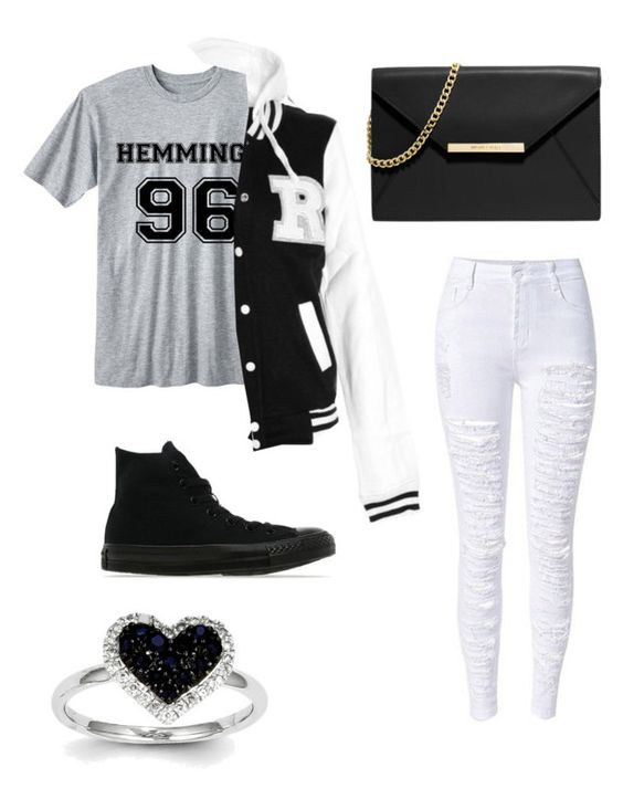 """Untitled #384"" by pyper-77 ❤ liked on Polyvore featuring Kevin Jewelers, Converse and MICHAEL Michael Kors"