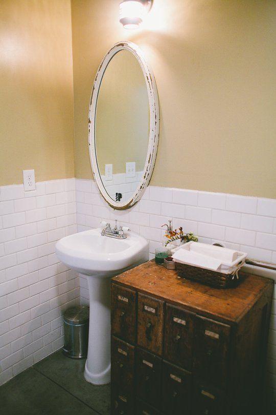 small bathroom ideas 6 room brightening tips for tiny windowless bathrooms pedestal storage. Black Bedroom Furniture Sets. Home Design Ideas