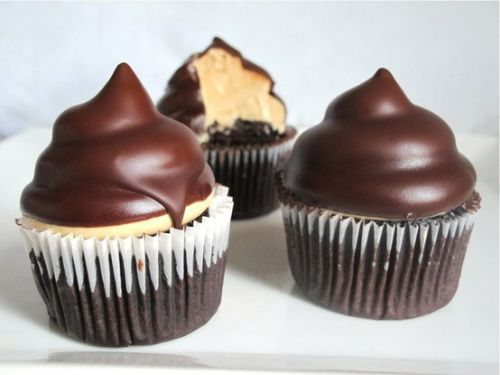 Chocolate Peanut Butter Cupcakes...oh goodness!