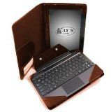 KaysCase Addon Folio Case with Keyboard Docking Station Cover for ASUS Transformer Pad TF300 (Brown)