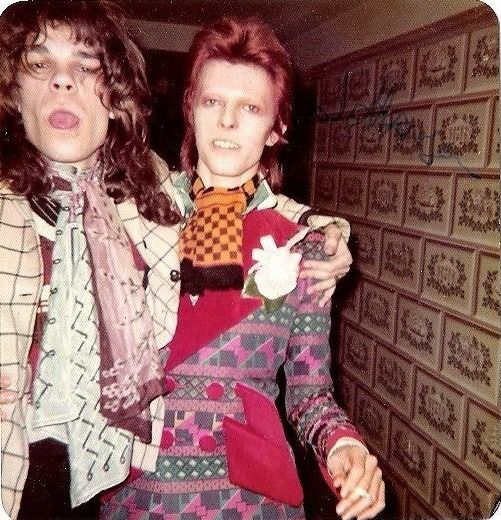 superseventies:  David Johansen of the New York Dolls with David Bowie
