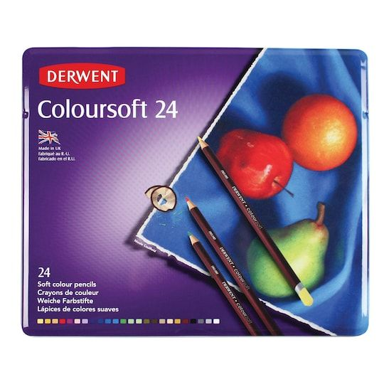 Derwent Coloursoft Pencil 24 Color Tin Set Michaels Derwent