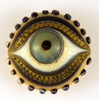 ButtonArtMuseum.com - Eye button:
