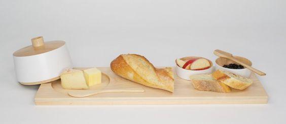 Plateau petits déjeuners en érable « Bois Debout