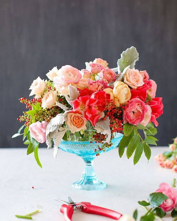 Romantic Floral Centerpiece Tutorial