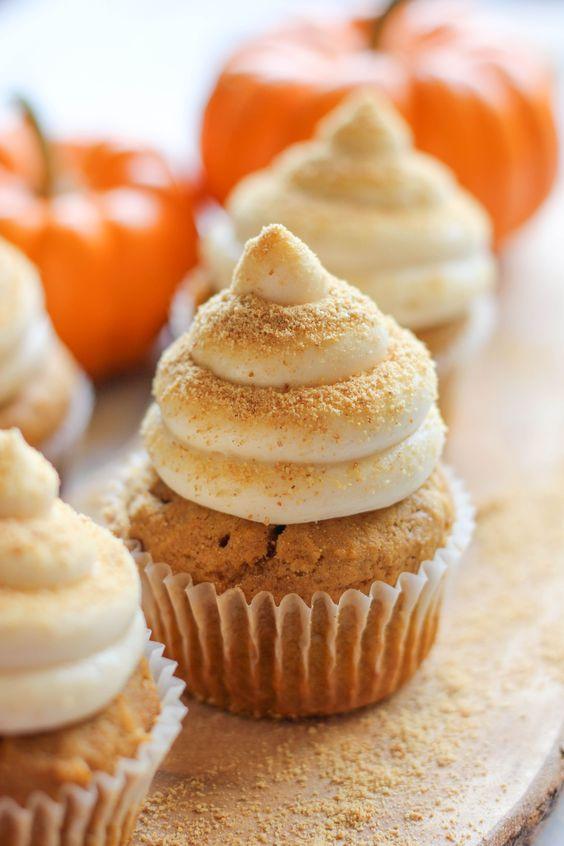 frostings fall cheesecake graham crackers cupcake recipe sweet cupcake ...