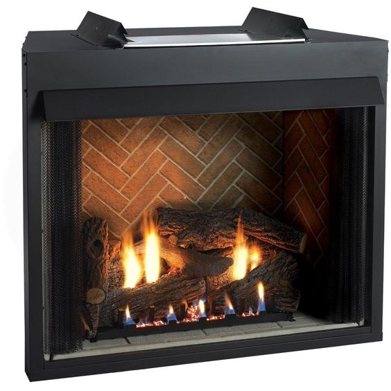 This 32 Inch Breckenridge Select Firebox Is Designed To Give You More Fireplace With Less Firebox Face Showin Gas Fireplace Logs Vent Free Gas Fireplace Hearth