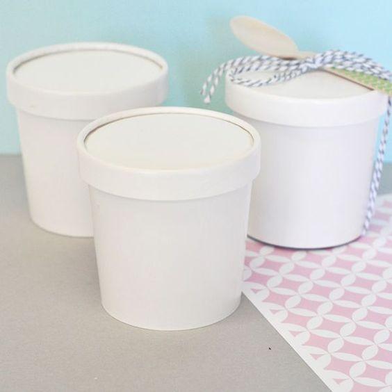 Blank Mini Ice Cream Containers