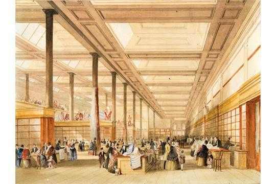 ROBERT LOWE STOPFORD (1813-1898) The Busy Interior of The Old Queen's Castle Department Store, si