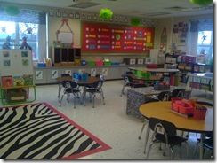 Adorable zebra themed classroom!