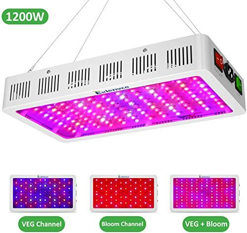 New Exlenvce 1500w 1200w Led Grow Light Full Spectrum Indoor Plants Veg Flower Led Plant Growing Light Fixtures Daisy Chain Function Triple Chips 15w Led O In 2020 Grow Lights For Plants Indoor