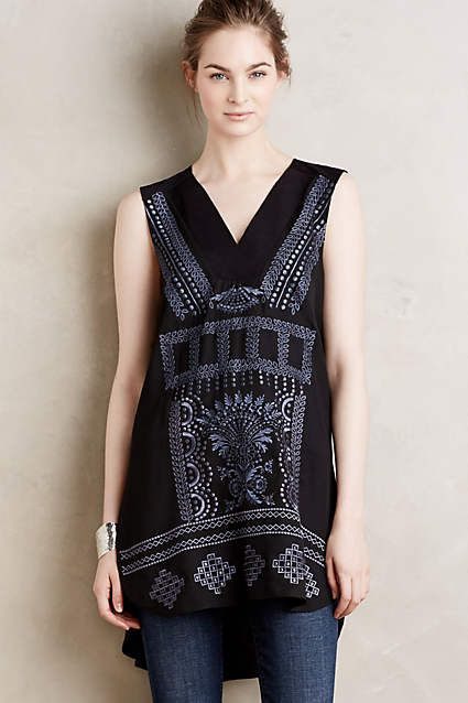 Embroidered Charna Tunic - anthropologie.com: