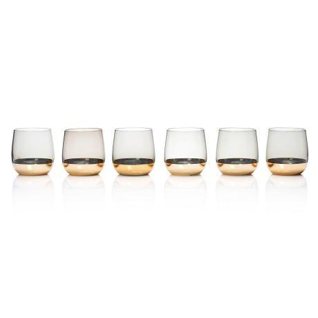 Wasserglas-Set, 6-tlg. Gold Vorderansicht
