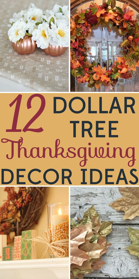 Decorating on a budget dollar tree thanksgiving decor
