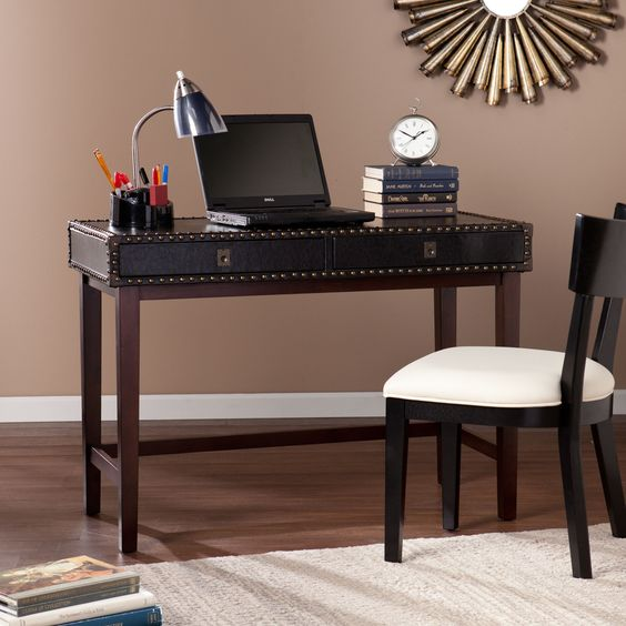 Upton Home Randall Faux Leather Writing Desk