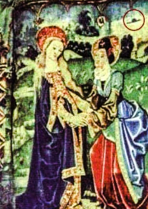STAR GATES: These two tapestries were created in the 15th century. Both are located at the French Basillica Notre-Dame in Beaune, Burgandy. Hat shaped objects can be clearly seen in both tapestries which depict the life of Mary. WHAT DO YOU SEE??? WHAT DO YOU THINK??? WHAT DO WE KNOW???