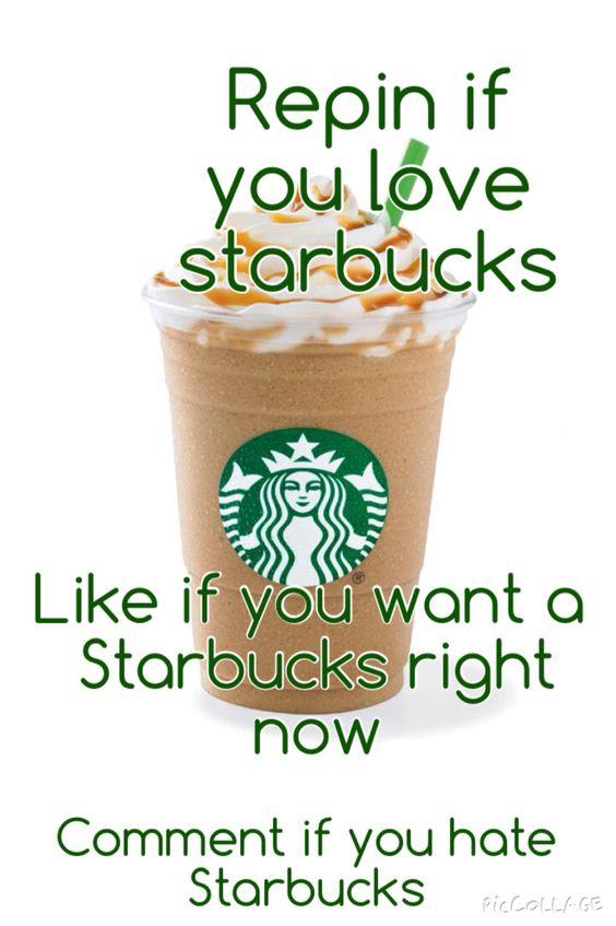 I love, Starbucks and This morning on Pinterest