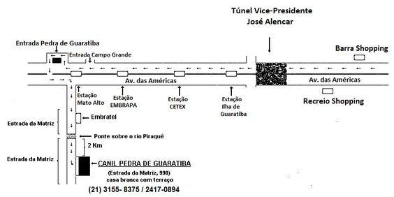 Mapa Canil Terrier Brasileiro