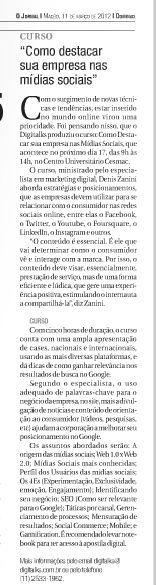 Matéria publicada no O Jornal, de Maceió