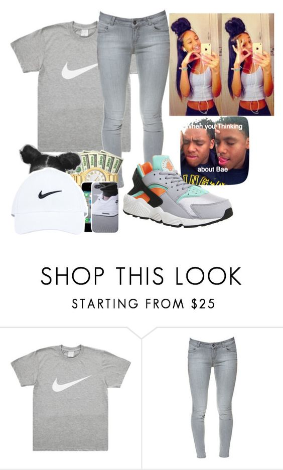 """""""like for a pm ~Asia"""" by candyyumyum5 ❤ liked on Polyvore featuring moda, Zara, NIKE, women's clothing, women's fashion, women, female, woman, misses e juniors"""