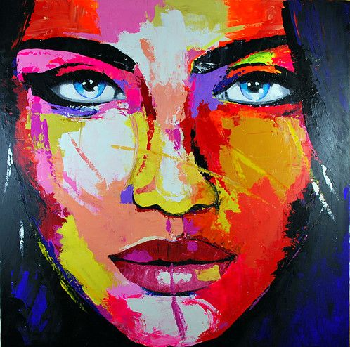 Cr ations de tableaux modernes color s sur la femme sa for Tableaux modernes colores