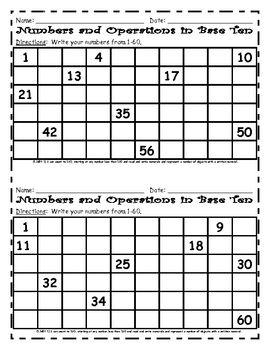 FREE Common Core Math- writing to 120