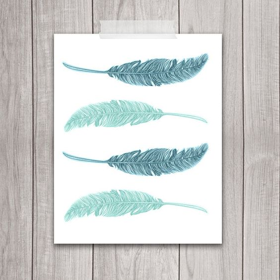 75% de descuento venta - pluma impresión 8 x 10 - arte imprimible, decoración…