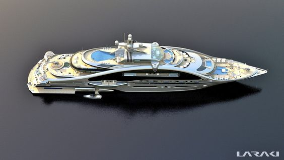 Gigayacht concept, Prelude by Laraki Yacht Design